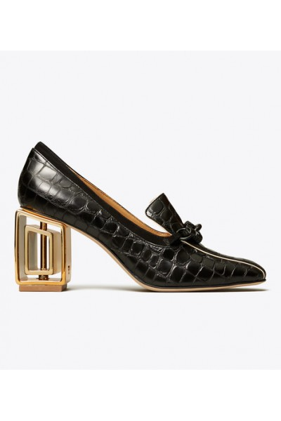 TORY BURCH - JESSA METAL-HEEL LOAFER PUMP
